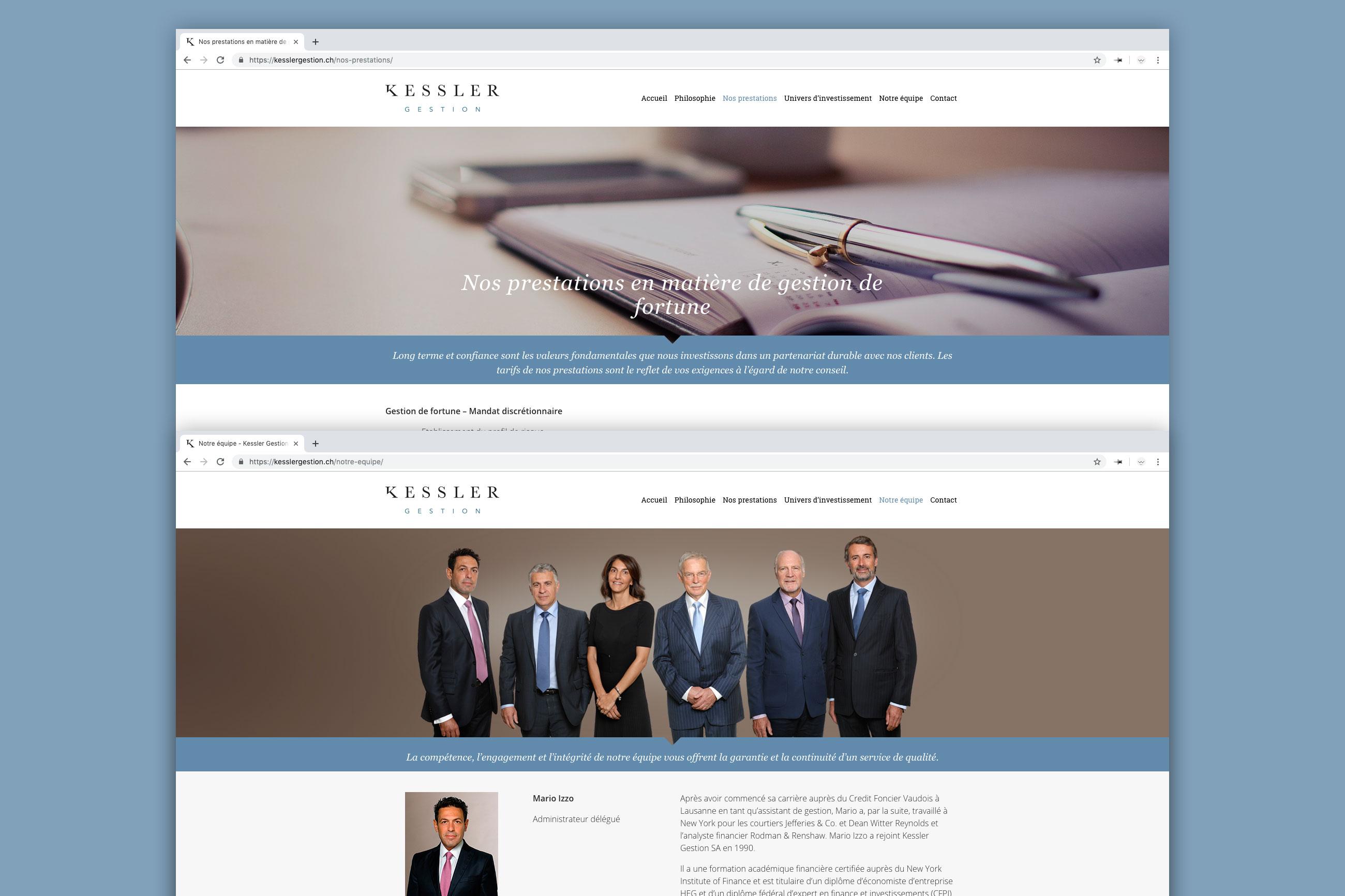 Site web de Kessler Gestion SA