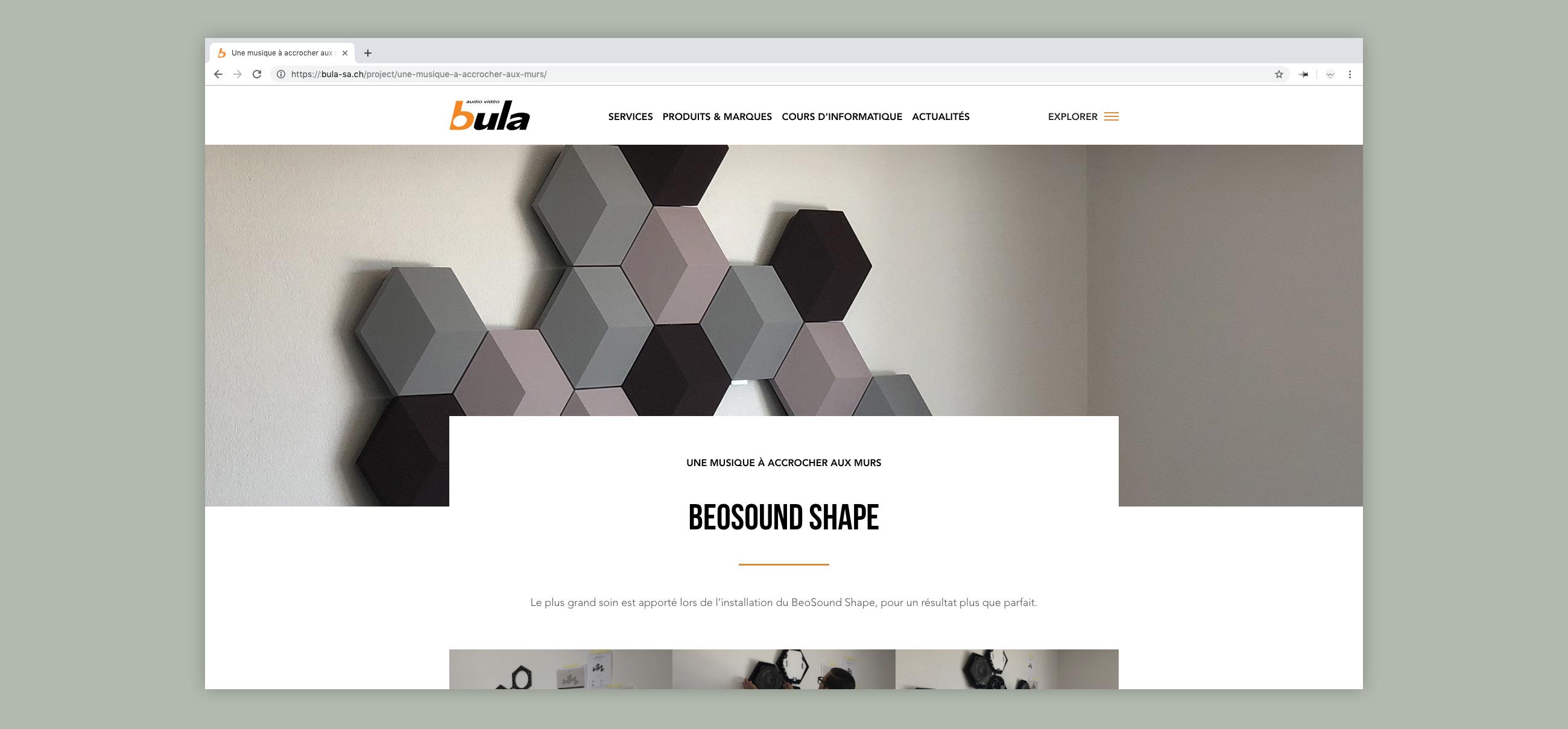 Site web bula - page projets